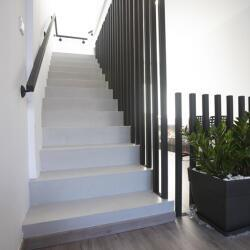 Indoors Microcemento For A Staircase